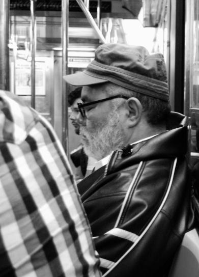 Snoozin' on the Subway