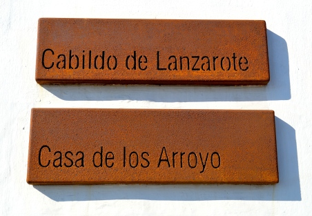 Casa de los Arroyo - weathered signs in Arrecife, Lanzarote