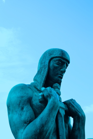 Statue in blue, Santa Cruz, Tenerife