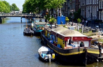 Houseboat Canal Scene
