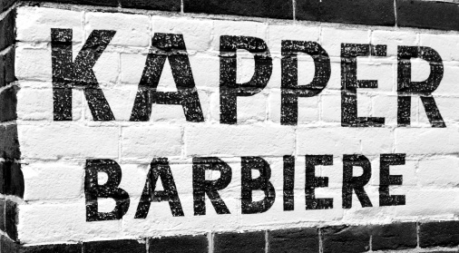 """Kapper Barbiere"" Barber's Sign"