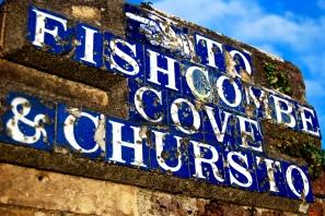 Fishcombe Cove Sign, Brixham