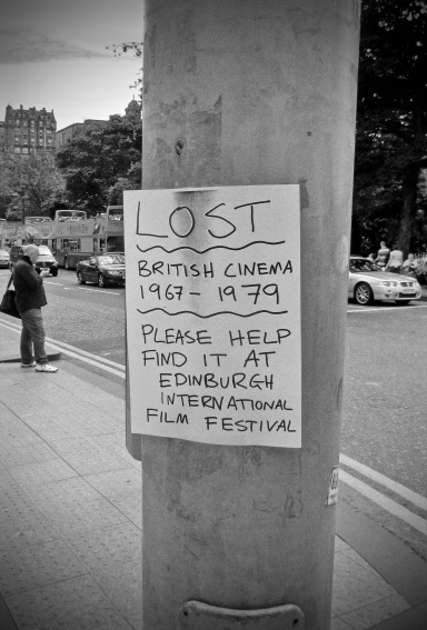 A humorous poster for the Edinburgh Film Festival