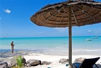 Fisherman, Parasol & Beach