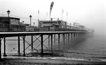 Paignton Pier on a Misty Day