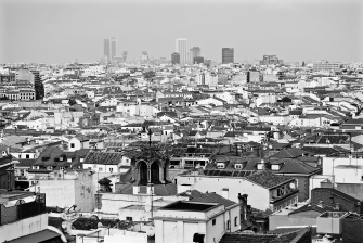City rooftops from the roof terrace of the Vincci Capitol hotel