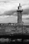 The old lighthouse on East Pier, Whitby