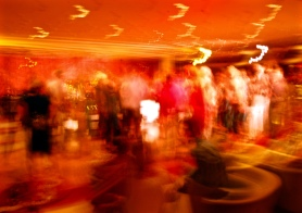 Dance floor & bar on cruise ship