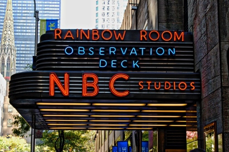 An entrance to NBC Studios