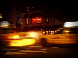 Psychic services for hire in Greenwich Village.