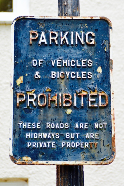 Parking Prohibited Sign in Wells