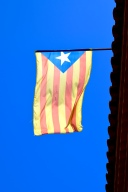 The Catalan separatists' flag.