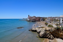 The eastern side of Sitges