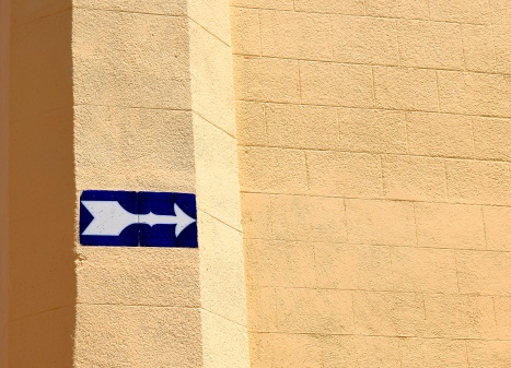 These tiled arrows are all around Sitges town centre