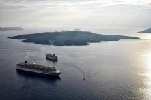 Cruise Ship on the Caldera