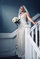 Bride on staircase