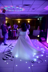 Bride on dancefloor