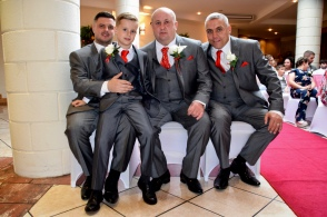 Groom, best man, son and grandson