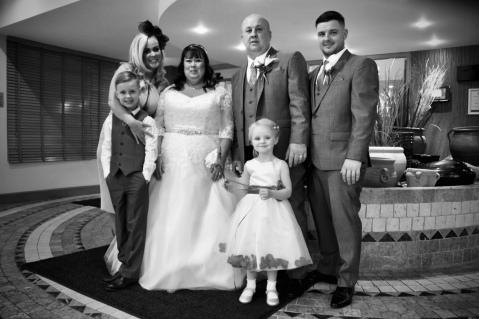 Bride groom son daughter in law & grandchildren