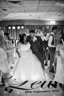 Bride & son dancing